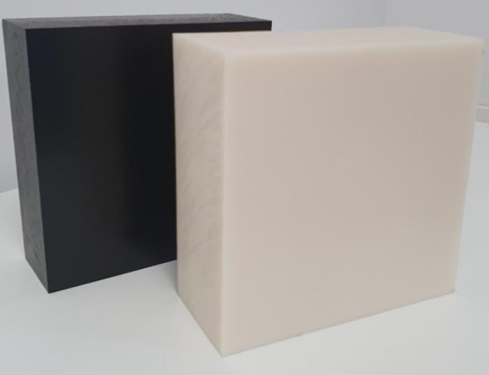 Absylux (ABS): semiacabado mecanizable en barras y placas - ABS: acrilonitrilo butadieno estireno, negros y naturales de grado alimenticio