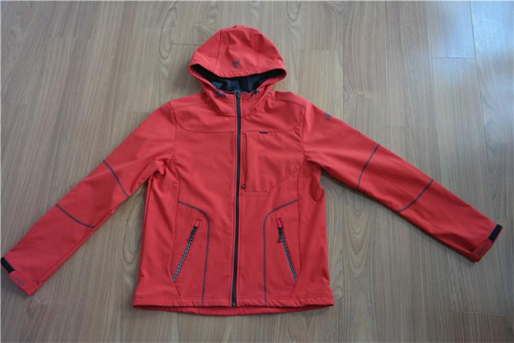 Men's hooded coat with long sleeves for spring and fall with zipper of composite - YH16-35SR