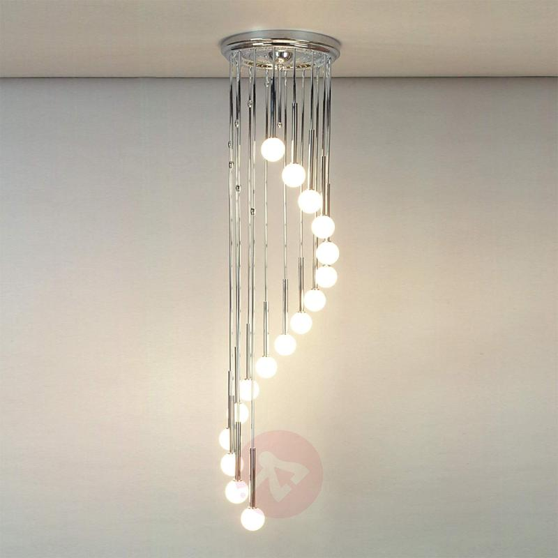Talisa Hanging Light Chrome-Plated with Opal Glass - design-hotel-lighting
