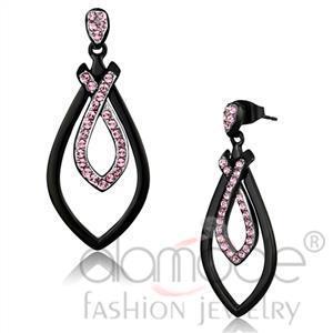 Fashion Earrings - Stainless Steel Top Grade Crystal Earrings