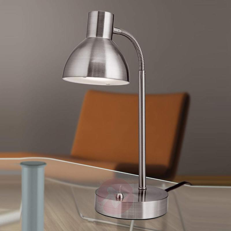 matt nickel-coloured LED desk lamp Isra - Table Lamps