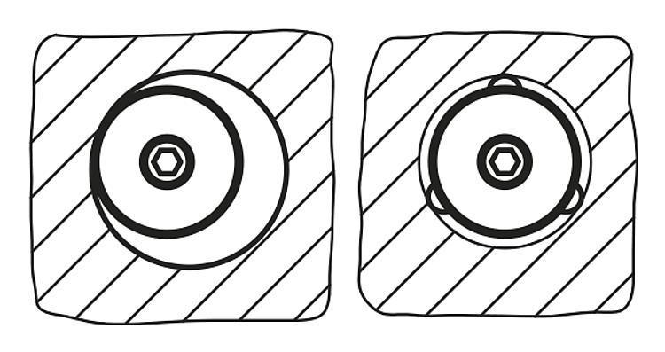 Élément de serrage et de centrage à contact ponctuel... - Élément de serrage et de centrage