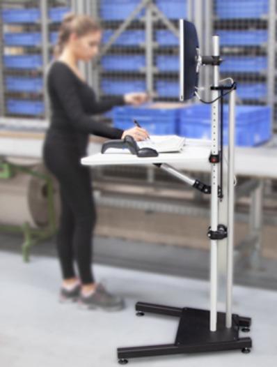 Soporte de pie para monitor regulable en altura -