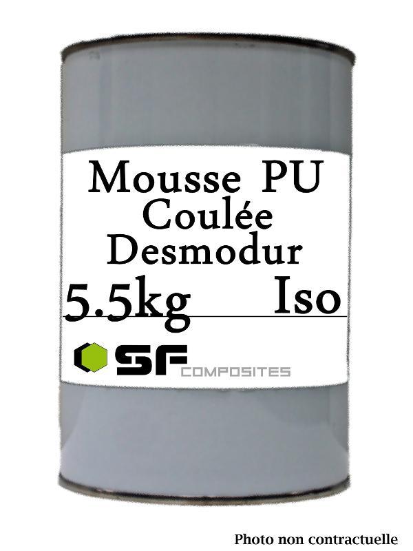MOUSSE PU DESMODUR ISO 5.5KG - Resines polyurethanes Mousse de coulée