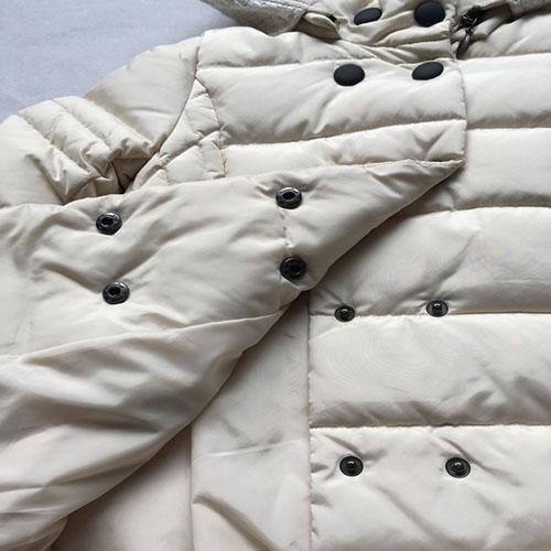 девочки кремового цвета с длинными рукавами вниз пальто -