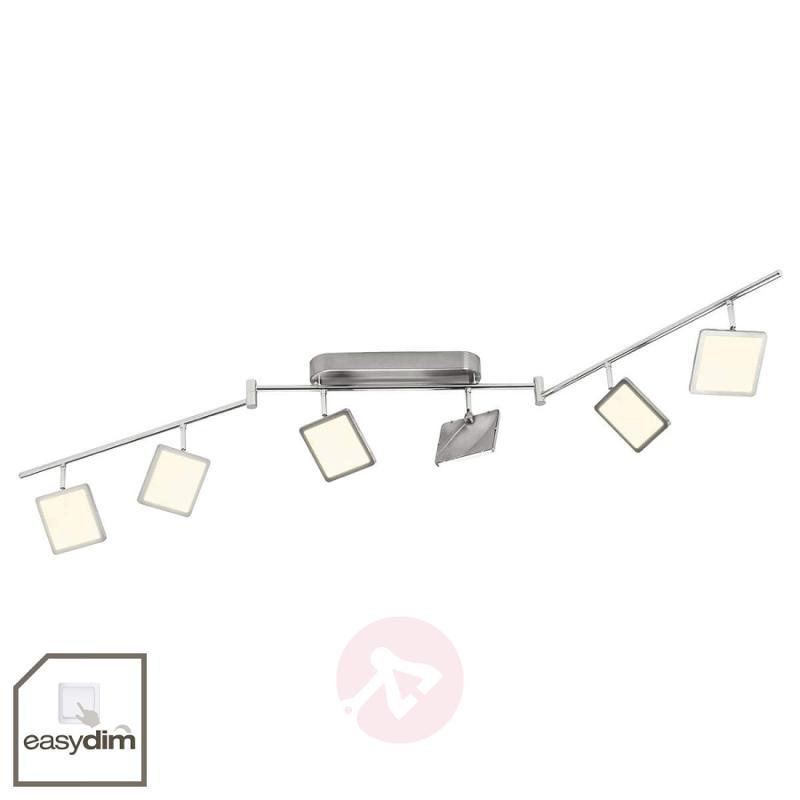 Six-bulb easydim ceiling light Uranus with LED - indoor-lighting
