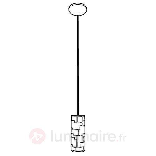 Suspension étroite Bayman avec motif à rayures - Suspensions en verre
