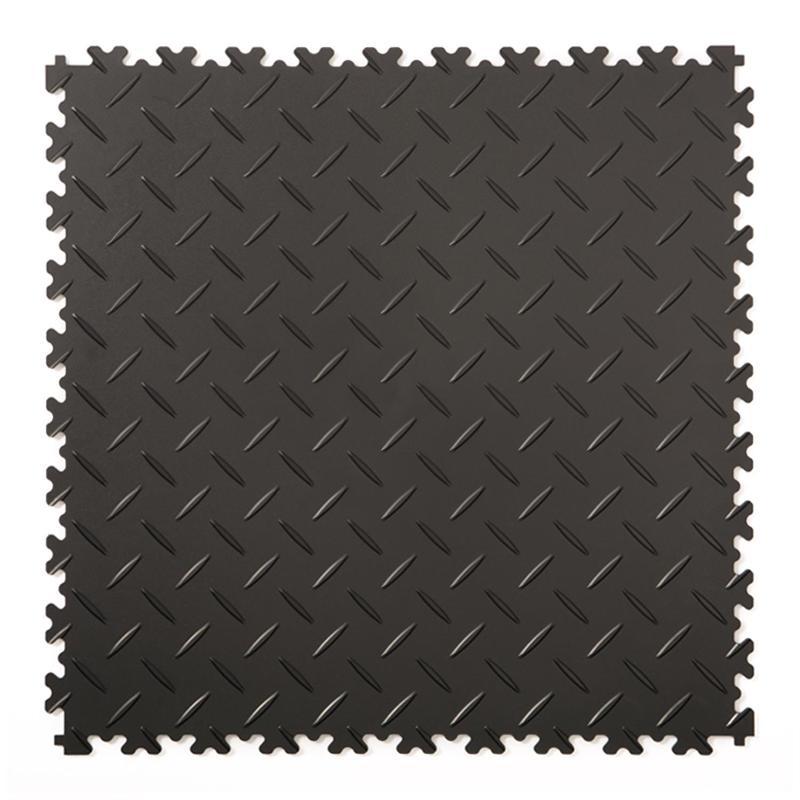 Klickfliese Riffelblech schwarz 50x50cm - Klickfliesen