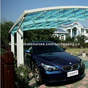 Single carport canopy in Moxico - Cutomized carport with polycarbonate sheet aluminum frame in China manufacturer