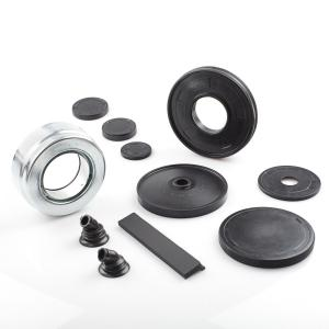 Rubber-to-metal bonded parts