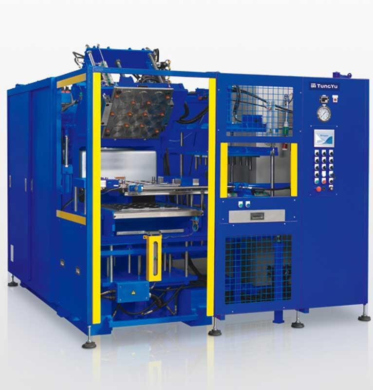 Presses compression à flasques - Tung Yu - Presse hydraulique THP-V-250-3RT-S-PCD