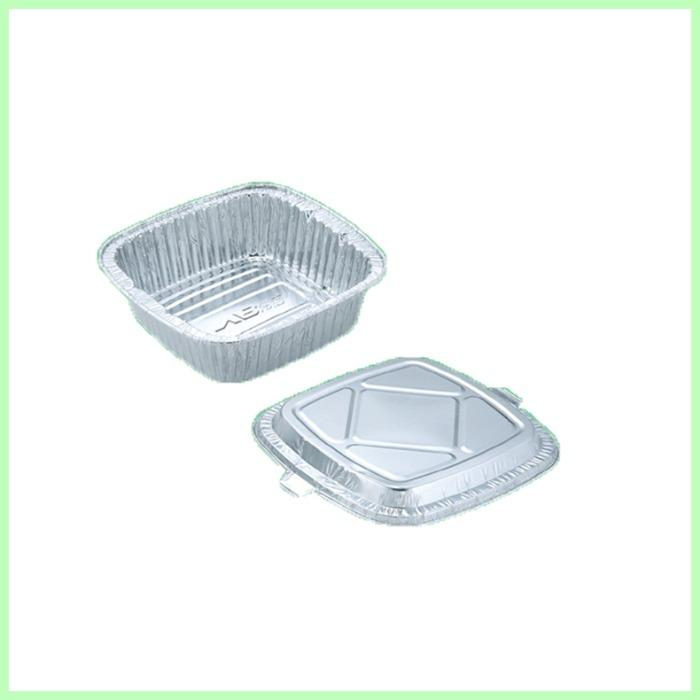 aluminum foil container  - aluminum foil container for food packing with lid