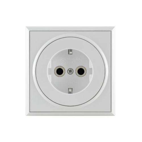 Two pole socket - 16A/250V 2P+E, polycarbonate nate body