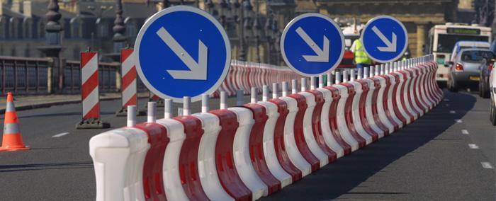 Signalisation temporaire - Séparateurs de voies K16 - null