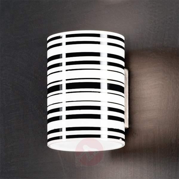 Emre Wall Light Striped Black White - Wall Lights