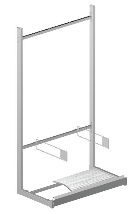 Modular shop rack systems & instore interior shelving design - Unit for lathwork