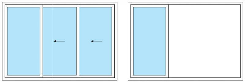Baie vitrée coulissante - Accessoires Pagodes MaxLéger et MaxLourd