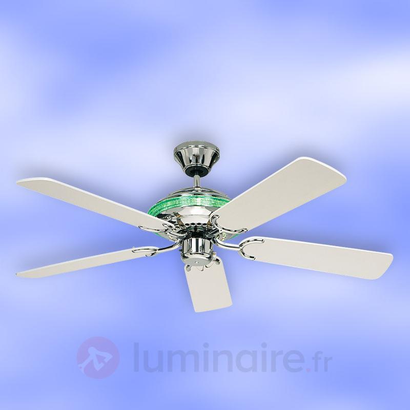 Merkur - Ventil. de plafond av. effets d'éclairage - Ventilateurs de plafond modernes