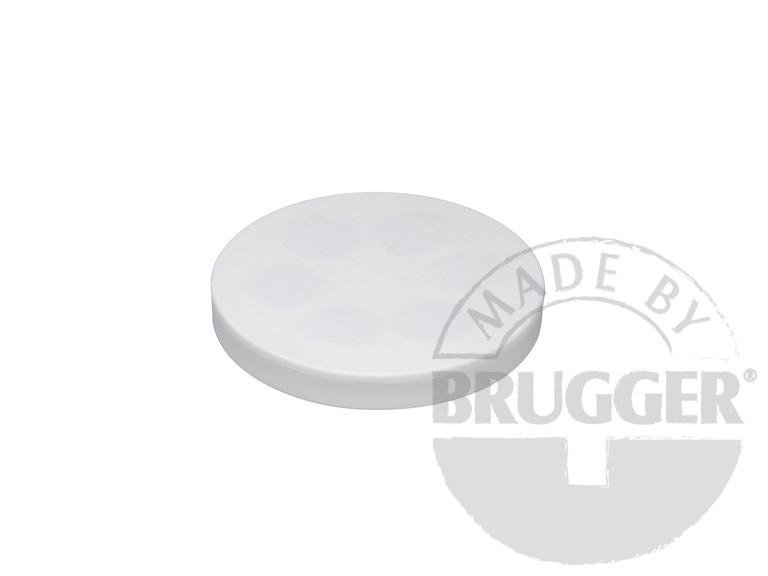 Magnet assembly, NdFeB, rubber coat white, with screwed bush - null