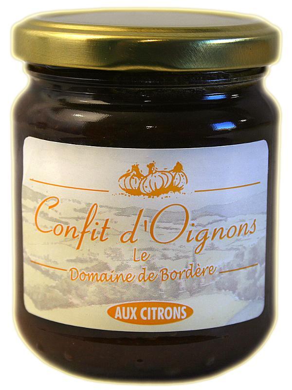 Confit d'oignons au citron - Epicerie salée
