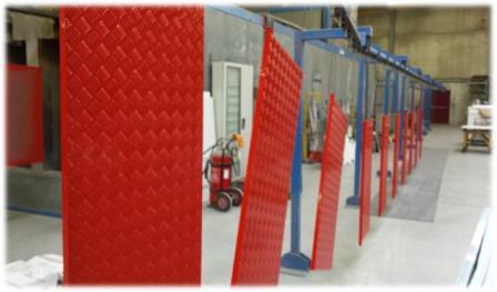 Traitement de surface et de peinture -  Process de thermolaquage avec poudre époxy