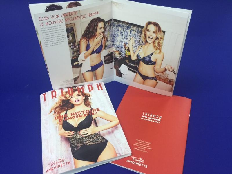 Brochures / Catalogues pour Triumph - Réalisation du Portfolio