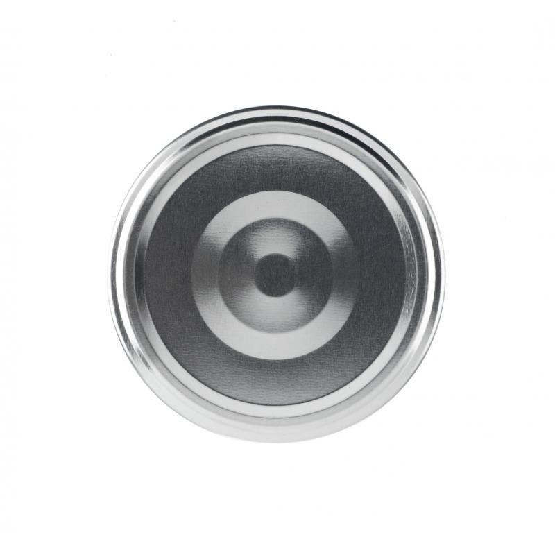 100 Capsules TO 89 mm argent Stérilisables avec Flip - ARGENT