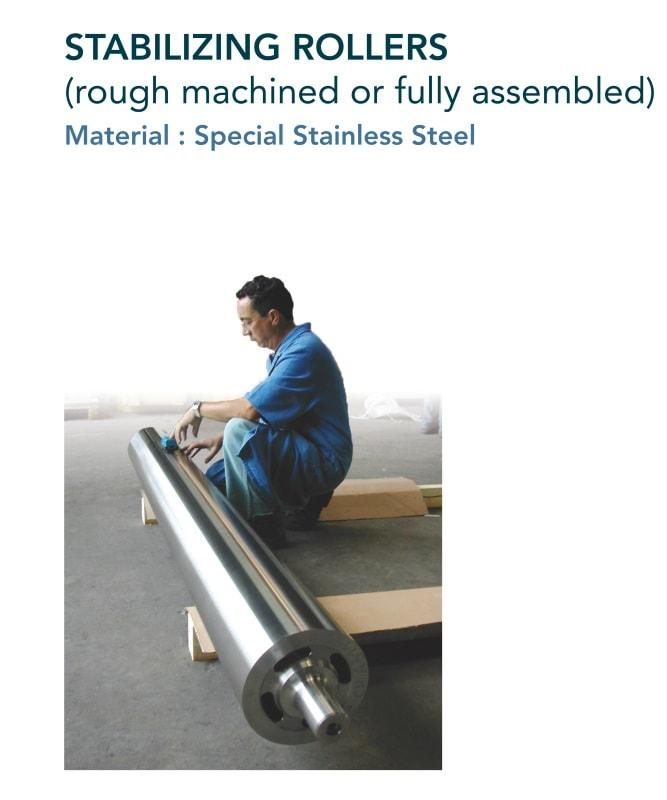 Pot roller for hot dip zinc & stabilizing roller - Steel industry - hot-dip galvanization
