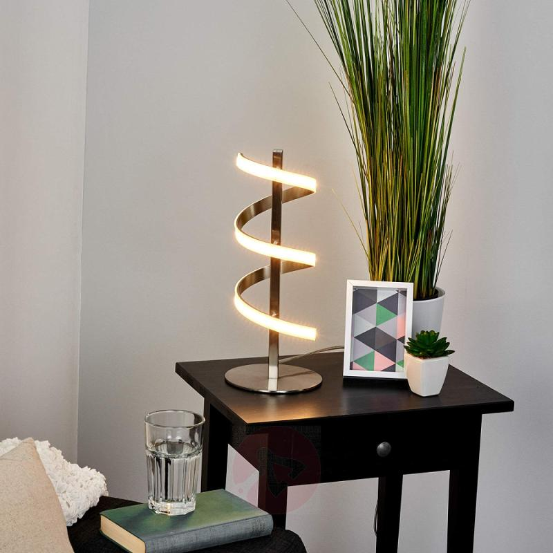 Spiral-shaped LED table lamp Pierre - indoor-lighting