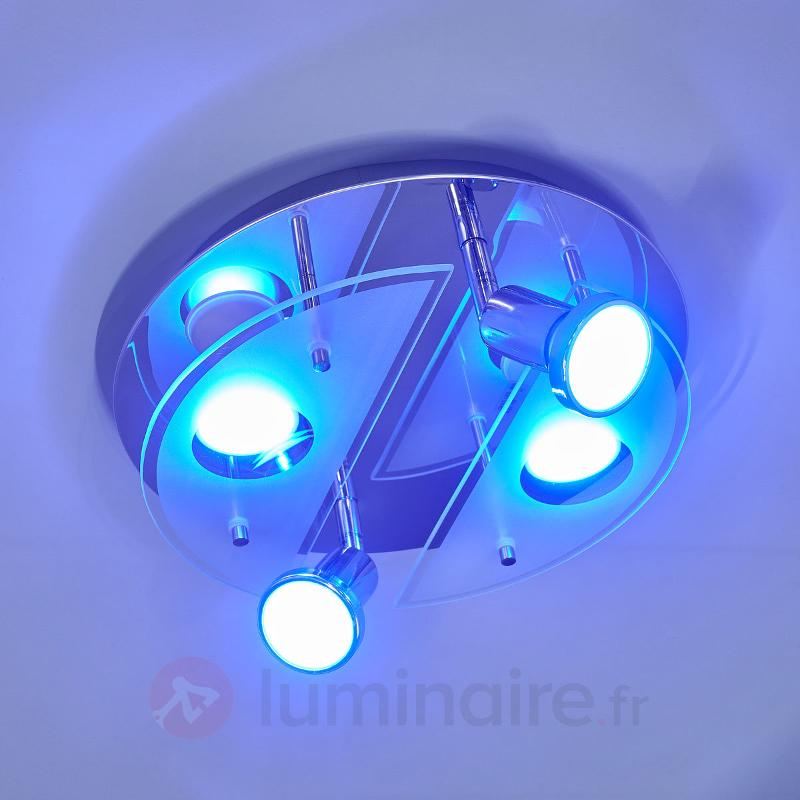 Plafonnier LED RGBW rond Cabo-C - Plafonniers LED