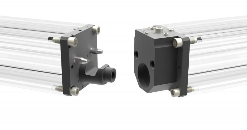 Profilschienenkupplung - Reihe PKH-M - horizontales Kuppeln mit hoher Präzision und Steifigkeit