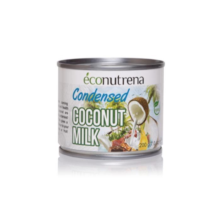 "Condensed coconut milk - Condensed coconut milk, Organic, ""Econutrena"", 200ml, can"