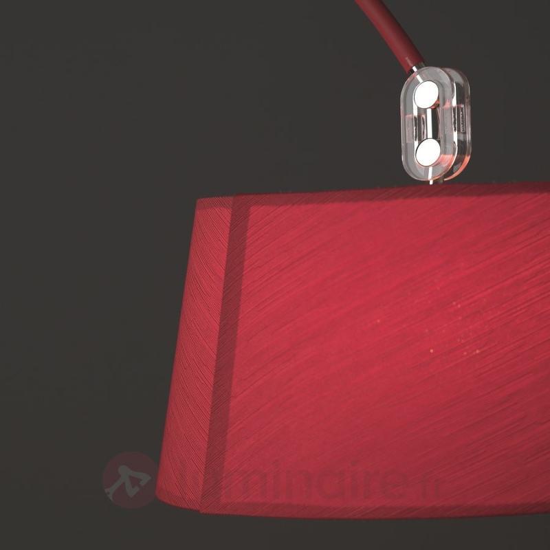 Lampadaire arqué Rise en saillie rouge - Lampadaires arqués