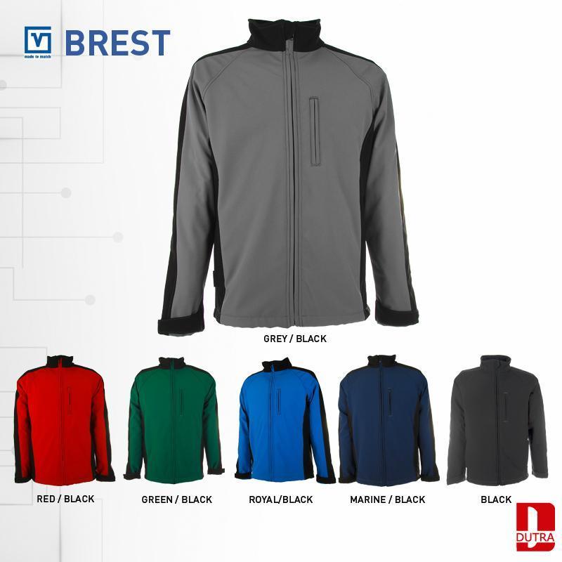 Veste coupe-vent imperméable bicolore - Veste de travail Softshell Brest