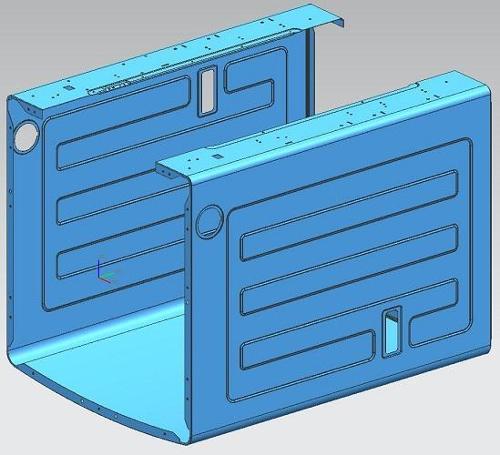 Pulsator washing machine cabinet mold - Pulsator washing machine cabinet