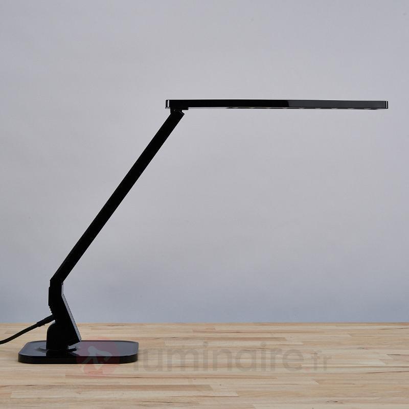 Lampe de bureau LED Eleni noire - Lampes de bureau LED