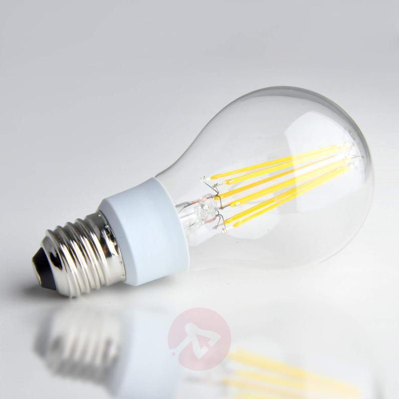 E27 12W 827 filament LED lamp, clear - light-bulbs