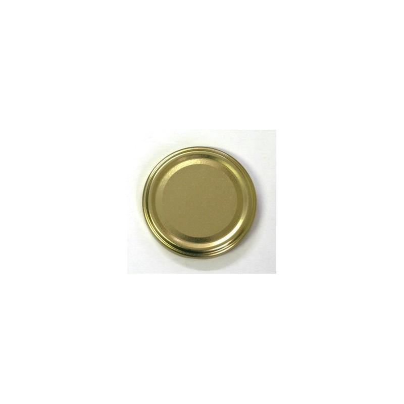 100 caps TO 53 mm Gold color for pasteurization - GOLD