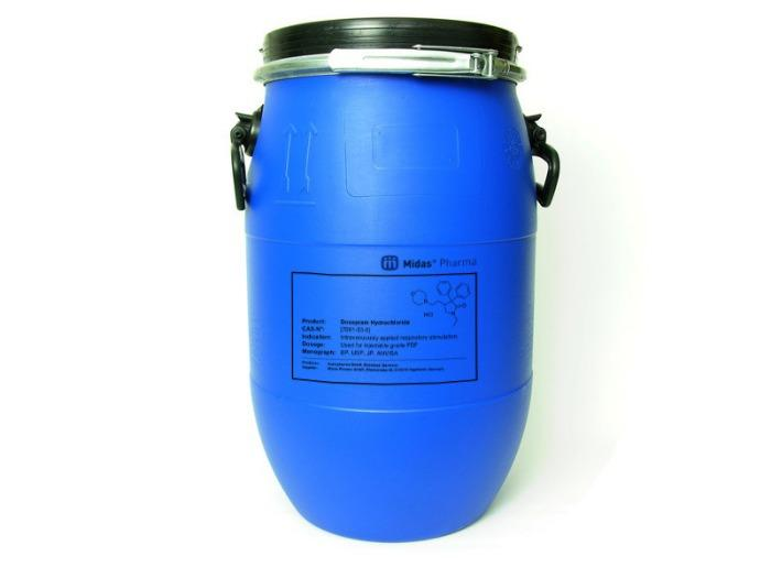 Clorhidrato de doxapram - Clorhidrato de doxapram; Ingrediente farmacéutico activo; EP, USP, JP, 7081-53-0