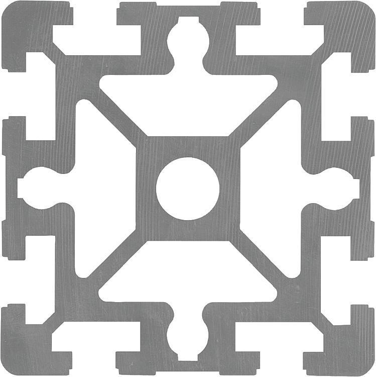 Profilés aluminium 90x90 Type B - Profilés aluminium