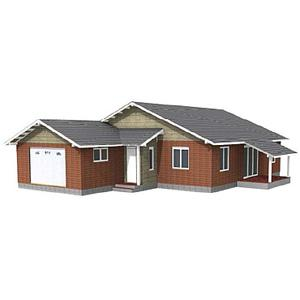 ONE-STOREY PANEL HOUSE WITH A GARAGE - Panel house