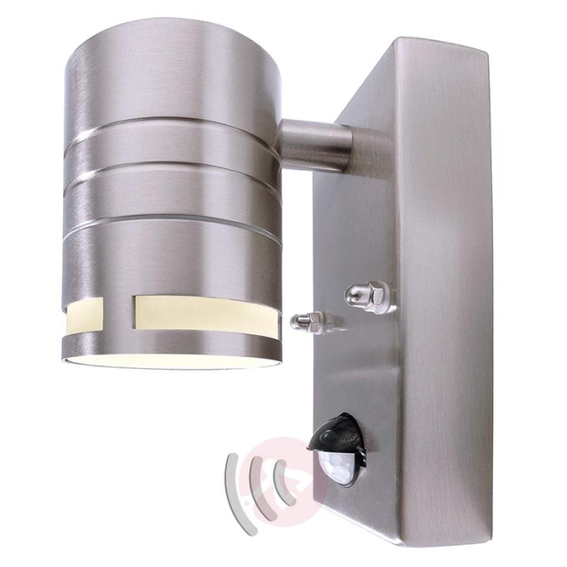 Small wall lamp Zilly II with motion detector - stainless-steel-outdoor-wall-lights