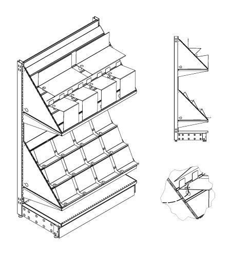 Modular shop rack systems & instore interior shelving design - Multimedia display
