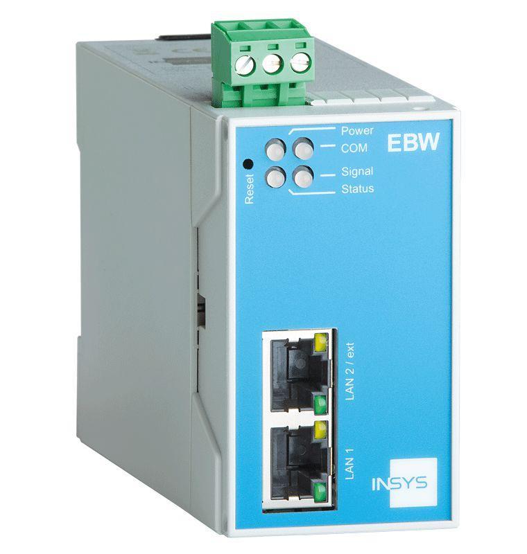 EBW-E100 LAN Router, VPN, Netmapping, IP/Port Forwarding - EBW-E100 Ethernet Router with 2 Port Switch, Firewall, Full NAT, Programmable