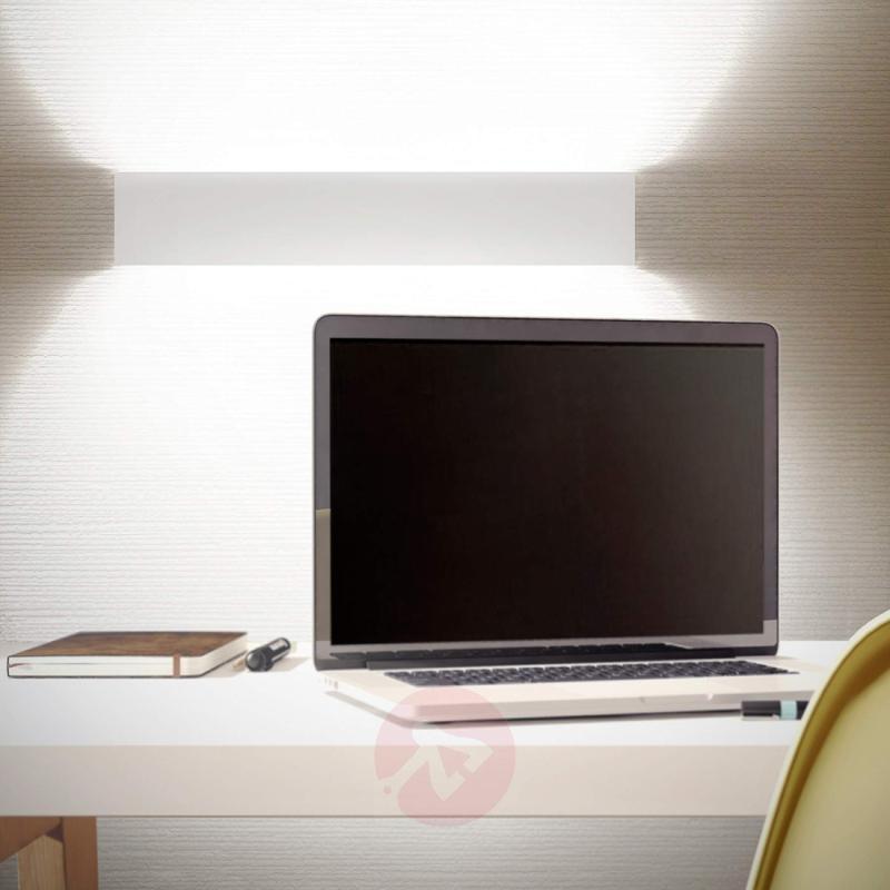 Rectangular LED wall lamp Simply LED, white, 60 cm - design-hotel-lighting