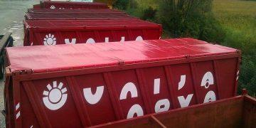 Tarpaulin covers and sheets for containers -