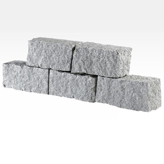 Murs en granit et pierre naturelle MR5 - Faces éclatées. Idéal pour murs entièrement en pierre.
