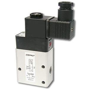 Elektrisch betätigtes Vorsteuer-Magnetventil GEMÜ 8357 - Das hilfsgesteuerte 3/2-Wege-Vorsteuer-Magnetventil ist indirekt angesteuert.