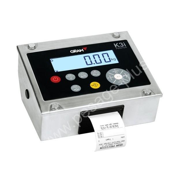 Indicateur avec imprimante - Balances au sol (ACIER et INOX)