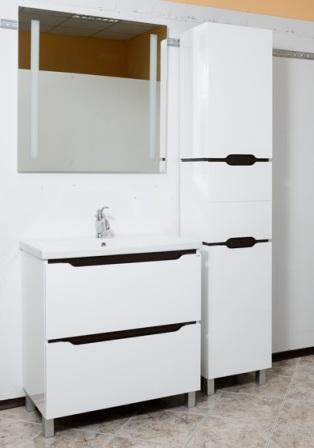 комплект мебели - тумба, раковина, пенал, зеркало для ванной комнаты